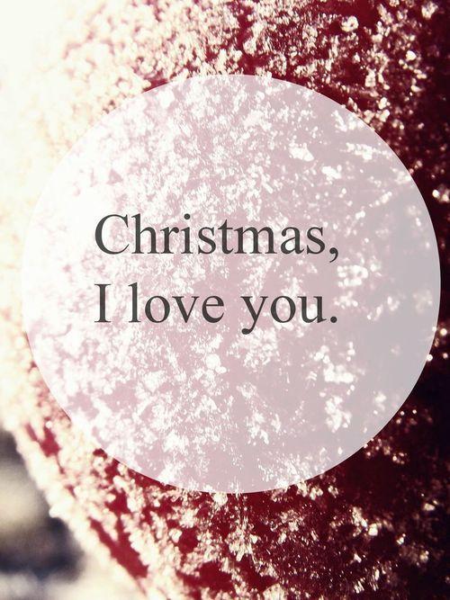 Christmas I love you