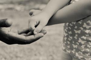 vader dochter handen